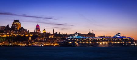 Quebec City Skyline Panorama At Sunset Sajtókép