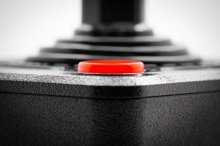 Macro shot of an old joystick