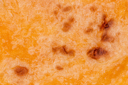 Macro shot of a salsa flavoured tortilla