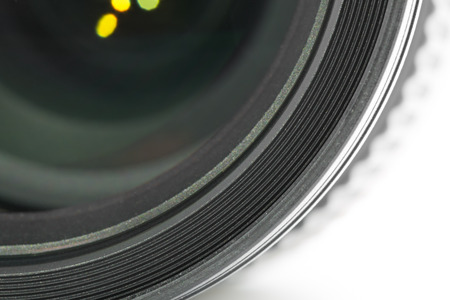 Macro shot of a camera lens Stock Photo