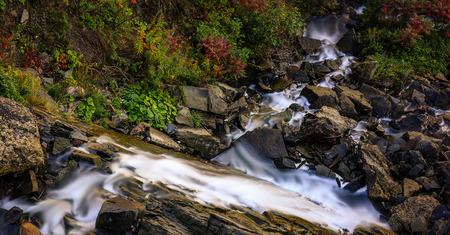 Long exposure of a cascade Stock fotó