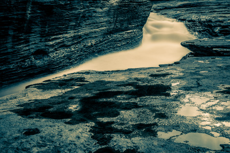 Long exposure shot of a rapid flowing river using a ND filter