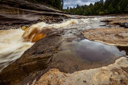 乱流の流れる川 写真素材