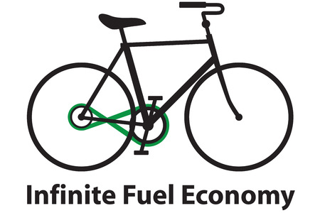 Illustration of a bicycle with an infinity chain