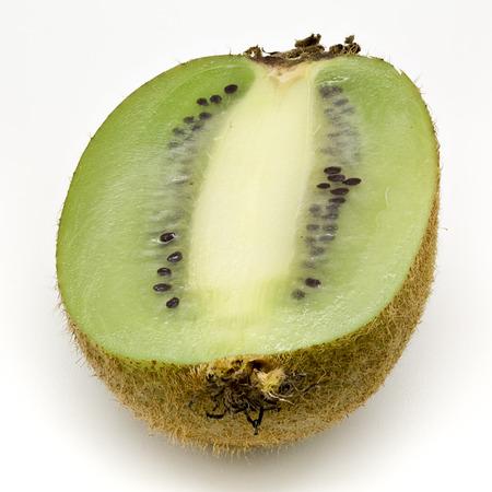 Macro shot of a kiwi cut in half