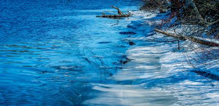 Winter riverside Stock fotó - 36361740