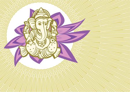 ganesha: Jai Shree Ganesha card Illustration