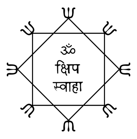 tantra: any poison protection yantra vector