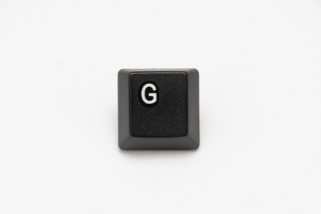 Single black keys of keyboard with different letters Stock fotó