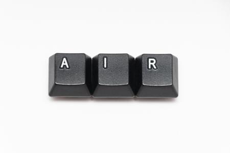 Single black keys of keyboard with different letters Reklamní fotografie