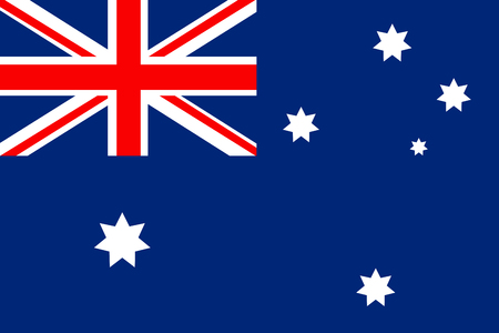 Flag of Australia in minimalistic design and high quality Stok Fotoğraf