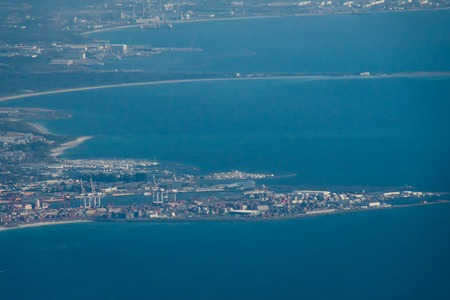 Container port of Perth at the coast in Western Australia