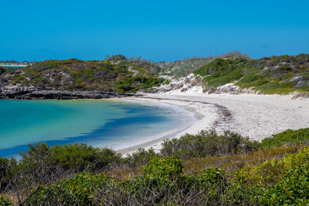 White sand at the Dynamite Bay in Green Head at the west coast of Australia