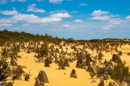 The Pinnacles Desert in Western Australia close to the Indian Ocean