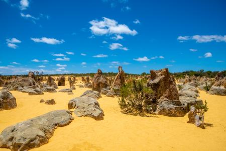 Rocks at the Pinnacles Desert in Western Australia northern of Perth city