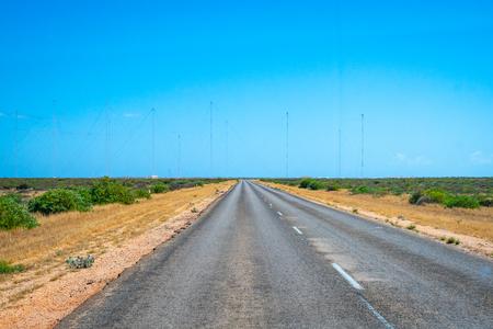 Big array of military radio antennas in Western Australia close to Exmouth