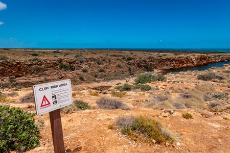 Cliff Risk Area Yardie Creek at the Cape Range National Park Australia