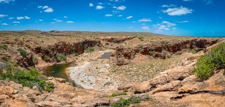 Yardie Creek Gorge panorama at Cape Range National Park Australia