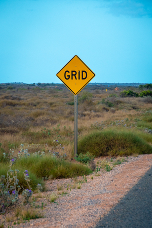 Yellow Street Grid street sign in West Australia Stockfoto