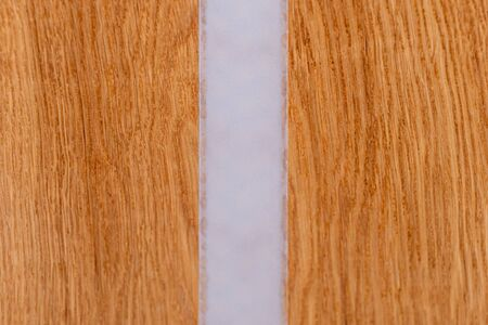 Oak wood surface polished and oiled and acrylic glass matt surface