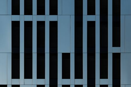 Modern architectural stainless steel facade cladding of business building pattern