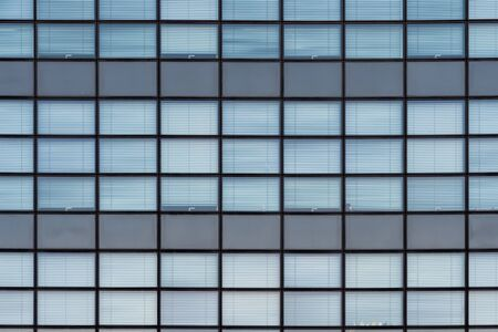 Glass facade modern architecture office building rectangular pattern Stockfoto
