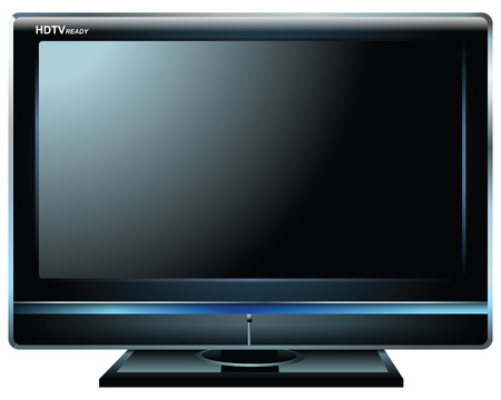 hdtv: Plasma TV HDTV  Illustration