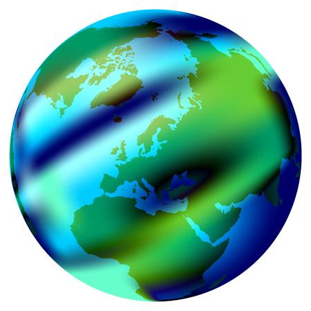 Round World Flag Stock Vector - 7545383