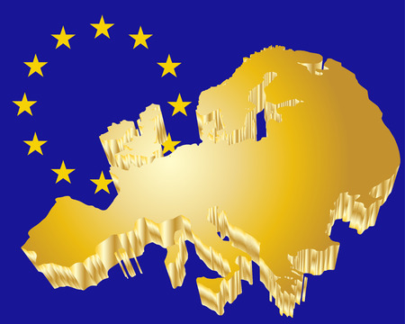 3D Europe Map Stock Vector - 7570134
