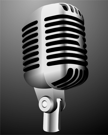Vintage microphone Stock Vector - 7570137