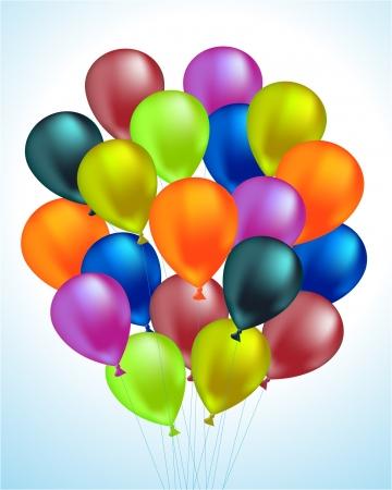 happy retirement: Balloons  Illustration