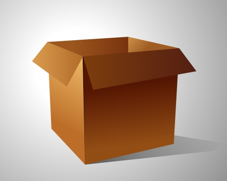 corrugated box: Corrugated Box with Path  Illustration