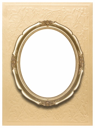 Oval photo frames  Clipping path Stock Photo - 12713554