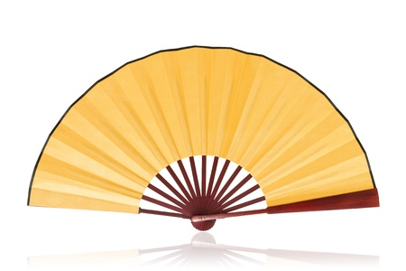 Chinese fan  Clipping path   photo