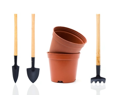 Garden tools  Clipping path