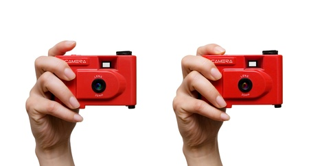Camera in a hand Stock Photo - 12713688