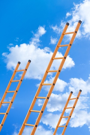 growth opportunity: Ladder to success Stock Photo