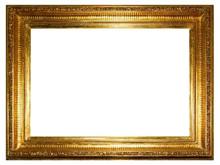 ornamentations: Oro photo frame clipping path Archivio Fotografico