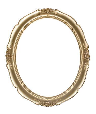 Oval photo frame Clipping path  photo
