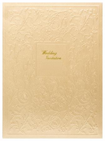 Carte d'invitation de mariage Banque d'images
