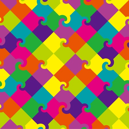 Multicolor swirl squares pattern Illustration