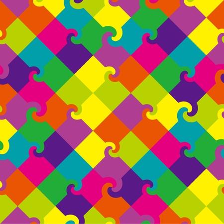 Multicolor wirbeln Quadrate Muster