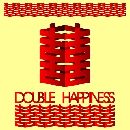 Felicidad doble con china de la boda