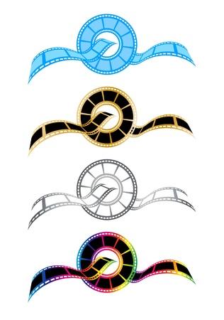 Symboles Film bande de concept