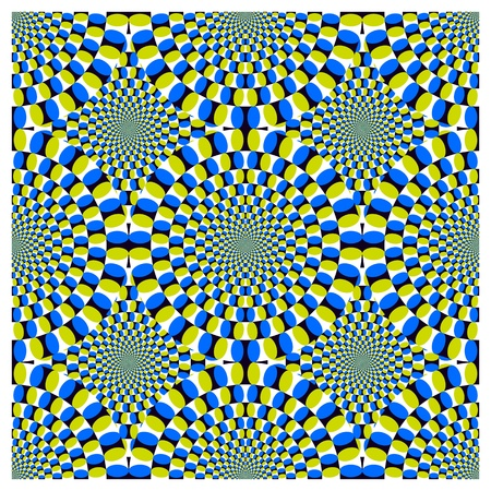 Optical illusion Spin Cycle  EPS  Vector