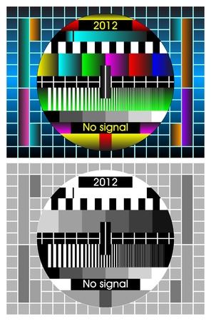 Television Test Card Or Pattern  TV Resolution Test Charts