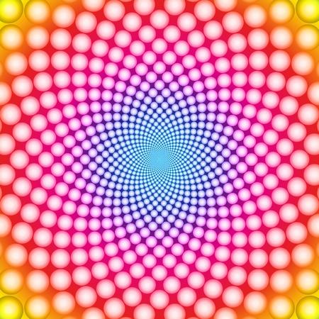 Anneau optique illusion Vecteur EPS