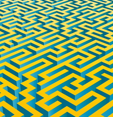 Fond labyrinthe en 3D