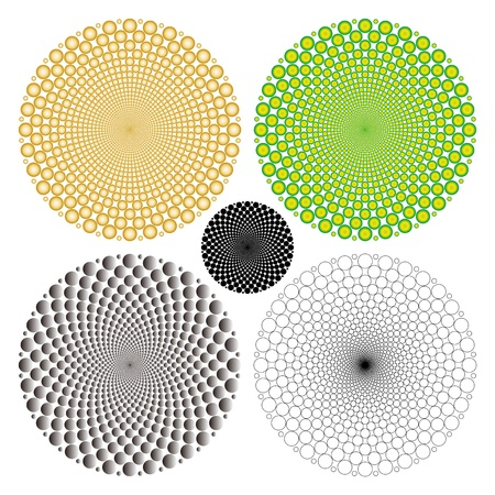 cyclic optical illusion Illustration