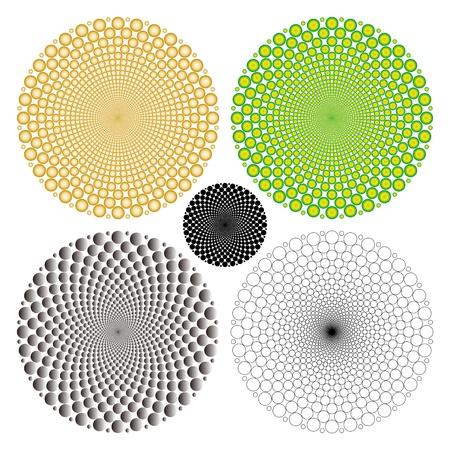 cyclic optical illusion Vectores